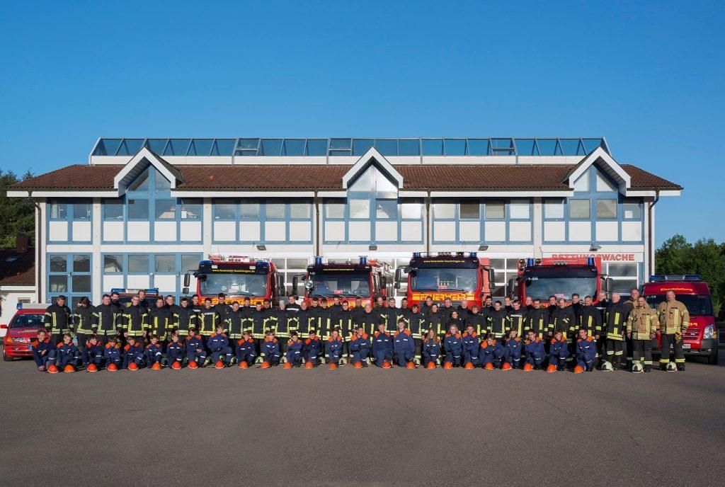 Gruppenfoto der Feuerwehr Lauchringen